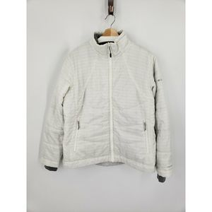 Columbia Interchange Zip Puff Jacket Coat White